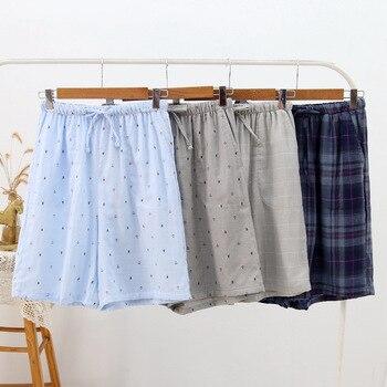 Summer Home Pajama Couples Shorts Men Sleepwear Sexy Pajamas Bottom Cotton Gauze Shorts Comfortable And Breathable Mansleepwear