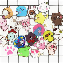 1 PC Cute Cartoon Marine animals Icons Acrylic Badges for Backpack Clothes Plastic Badge Kawaii Pin brooch