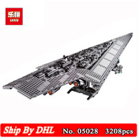 DHL Ship Lepin 05028 Toy Wars Execytor Super Star Destroyer Model Building Kits Blocks 3208Pcs Bricks Children Toy 10221