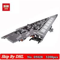 DHL Ship Lepin 05028 Toy Wars Execytor Super Star Destroyer Model Building Kits Blocks 3208Pcs Bricks Children Toy 10221