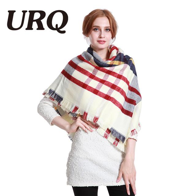 square scarf  women winter warm scarves shawl wrap plaid tartan very heavy thick women scarf luxury brand feminino pashimina new