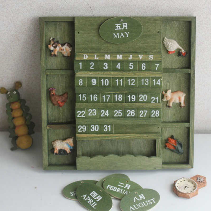 Wholesale Home Decor Online: Online Buy Wholesale Wooden Calendar From China Wooden