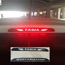 Автомобильный-Стайлинг задний фонарь стоп-сигнал лампы защитные чехлы из углеродного волокна 3D наклейка для Skoda FABIA 2008- автомобильные аксессуары 1 шт