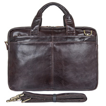 JMD Fashion 100% Real Leather Hand bags For Men Briefcases In Shoulder Bags Large Capacity Laptop Bag 7092-3C цена