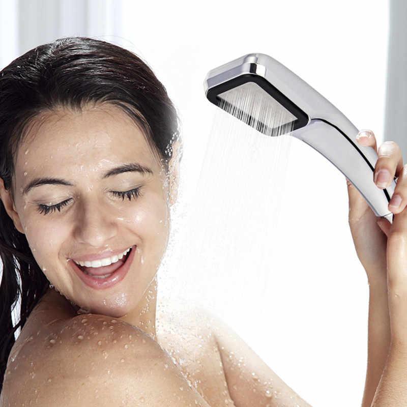 300 отверстия высокого давления Душ спрей насадка водосберегающая тропический ливень Хромированная душевая ванная квадратная насадка