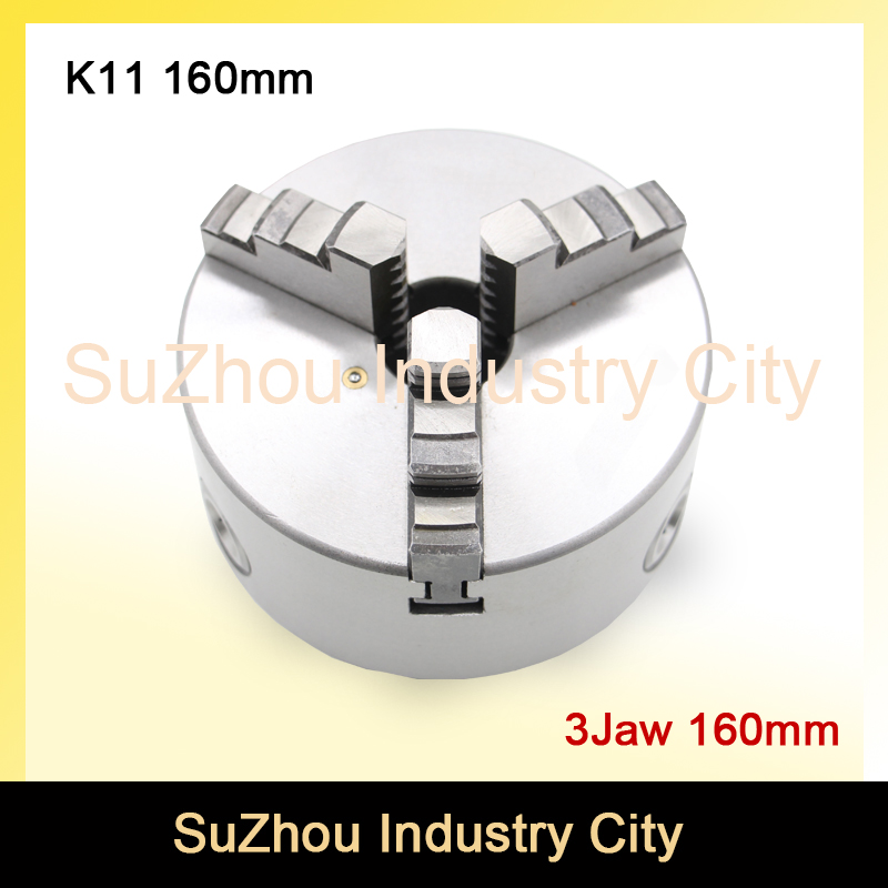 CNC 4th axis A axis 160mm 3 jaw Chuck self-centering manual chuck K11 fourth jaw for CNC Engraving Milling machine Lathe Machine