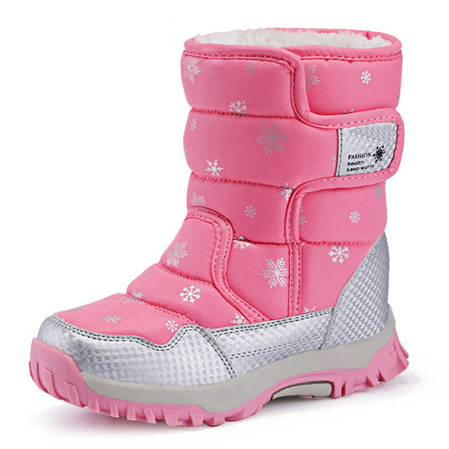 2016 children winter snow boot anti-skid outsole keep warm lining antiskid outsole Baby Girl shoes