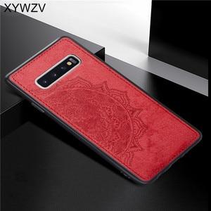 Image 5 - สำหรับ Samsung Galaxy S10 Case ซิลิโคนนุ่ม TPU ผ้า Texture Hard PC สำหรับ Samsung Galaxy S10 กลับสำหรับ samsung S10 ฝาครอบ
