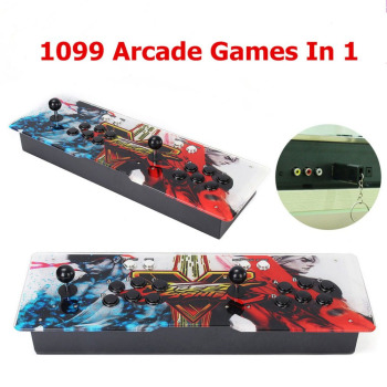 Professional 1099 Video Games in 1 Family Box Home Arcade Console HD Home Game Machine with Dual Joystick English Version