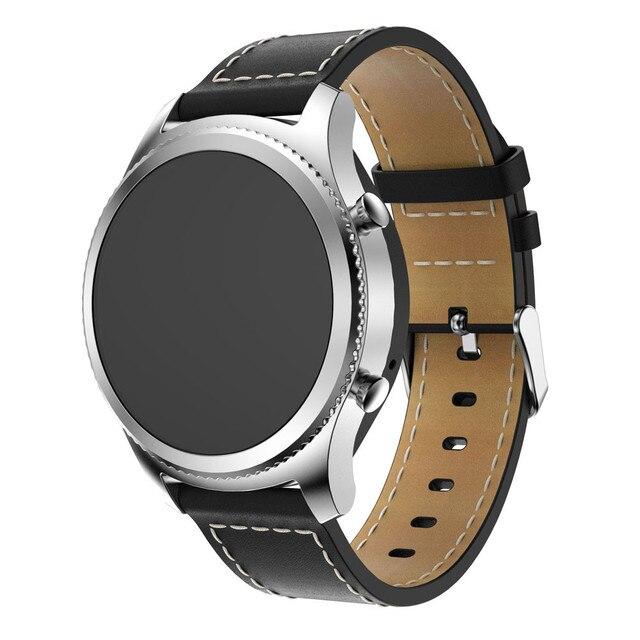 Remplacement En Cuir Montre Bracelet Bracelet Bande véritable Montre en cuir  Bande Pour Samsung Gear S3