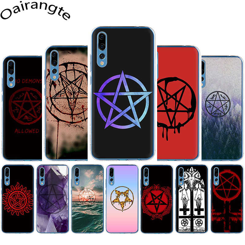 Satanic Pentagram Hard Phone Case for Huawei Honor 6A 6C 7A Pro 7C 7X 8C 8X 8 9 10 Lite Play view 20 9X Pro