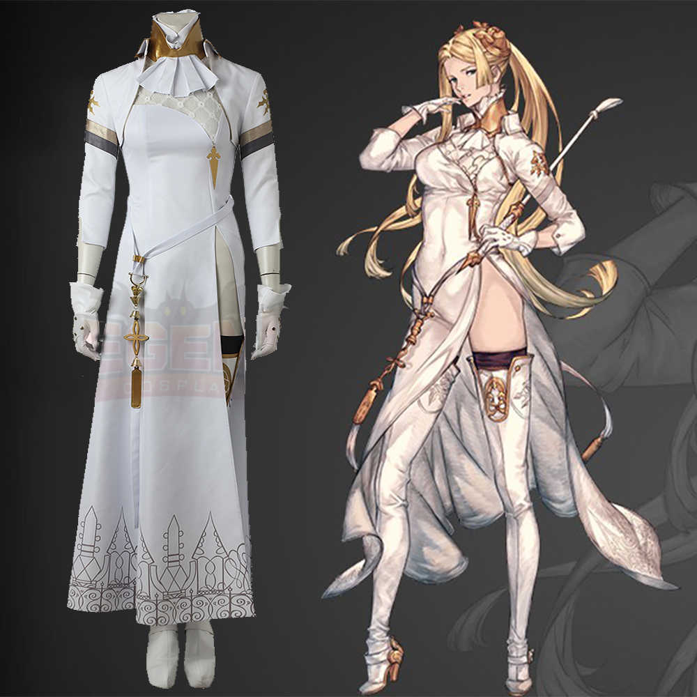 Nier Automatas NieR Automata Commander Cosplay Costume Adult Costume Full Set Commander Costume White Dress