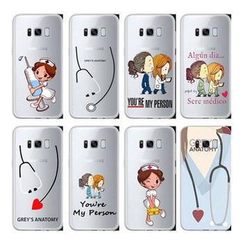 Eres mi persona grises anatomía nueva llegada Original cubierta de TPU caso para Samsung Galaxy S6 S7 S8 S9 PLUS borde Nota 5 8 9