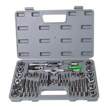 40Pcs Tap Die Set Hand Thread Plug Taps Hand Threading Tool Screw Thread Wrench Dies Kit With Storage Case