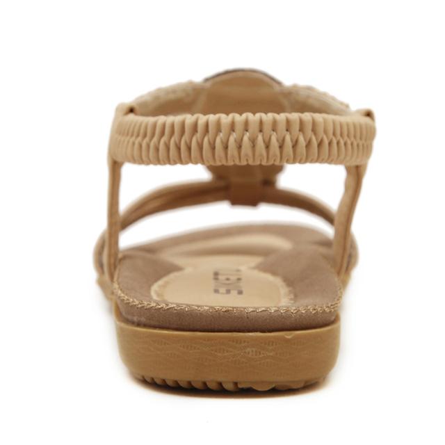 Women summer Sandals shoes woman Flat shoes New Rhinestone leisure female slippers Diamond Bohemian Casual Shoes