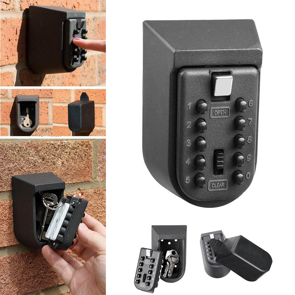 Key Safe Box Aluminium Alloy Wall Mounted Home Safety Password Security Lock Storage Boxes with Code HR