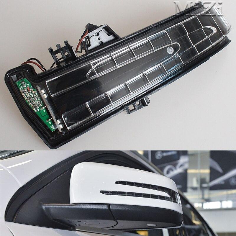 MZORANGE Rétroviseur Clignotants Lumière Côté Miroir LED lampe Pour Mercedes Benz W221 W212 W204 S300 S500 S350 s600 S400 C180
