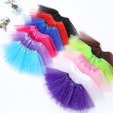 10PCS/Lot Wholesale 2 8T Kids Baby Shiny Star Skirt Ballet Dance Pink Tutu Skirt Girl 3 Layers Tulle Pettiskirt Children Skirts