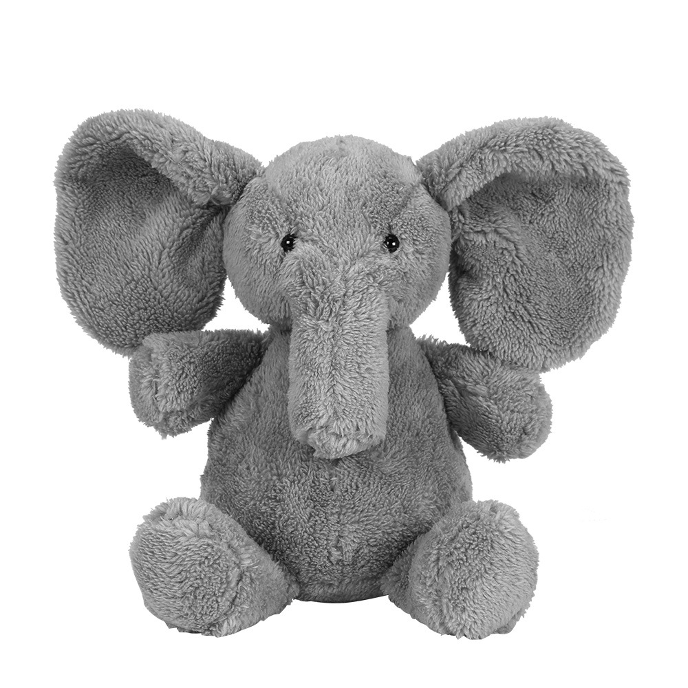 23cm Cute Plush Grey Elephant Toys Dolls Baby Sleeping Back Pillow