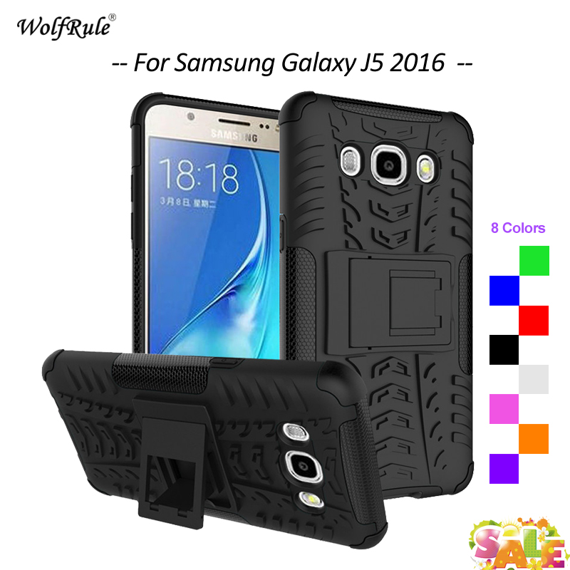 Za ovitek Samsung Galaxy J5 2016 ovitek TPU PC stojalo za telefon Za - Dodatki in nadomestni deli za mobilne telefone
