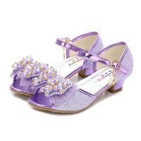 Maggie's Walker 2018 summer and spring Sandals shoes for girl fish Toe Bow tie cute breathness and non slip shoes for kids