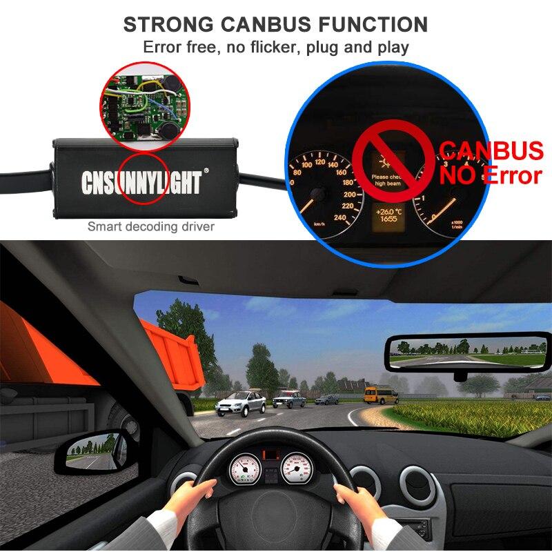 CNSUNNYLIGHT Canbus LED Headlight Car Bulbs H7 H11 9006 9005 H4 D1 wLUMILEDS MX70 Chips 14000Lm 5700K No Error Automotivo Light (3)