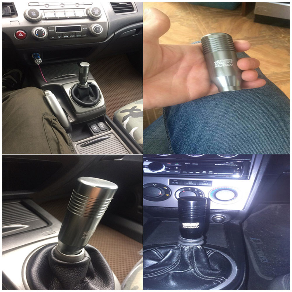 Image 4 - Free shipping 8.5cm Gear Shift Knob Stick Manual Transmission Universal Car Aluminum  Extended Mugen Gear Shifter Gear Head Knob-in Gear Shift Knob from Automobiles & Motorcycles