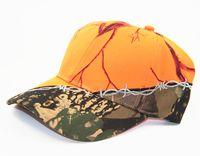 Turuncu Kap Mens Ordu Askeri Kamuflaj Cap Kamp Yürüyüş Avcılık Kamuflaj Şapka Unisex Avcılık Kamuflaj Cap Çöl Camo Şapka