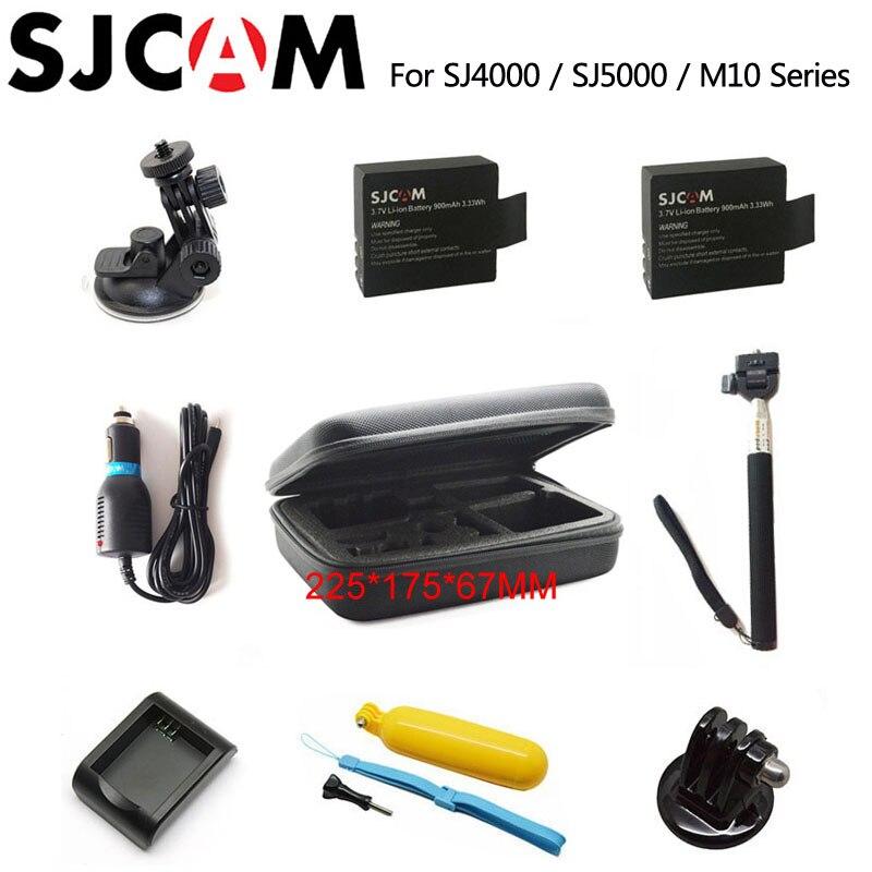 SJCAM SJ4000 Accessori SJ5000 Batteria sacchetto Monopiede Treppiede Galleggiante Bobber per SJ CAM 5000 M10 più sj5000x Elite action camera