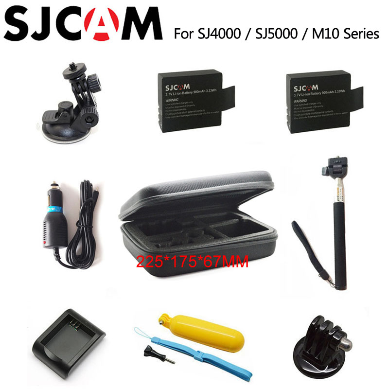 SJCAM SJ4000 Accessories SJ5000 Battery bag Monopod Tripod Floating Bobber for SJ CAM 5000 M10 plus sj5000x Elite action camera