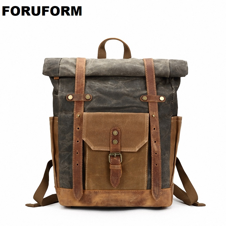 2018 Edge Curl Male Teenagers Canvas Backpack Large Waterproof Men Travel Bag Laptop Backpack Boys School Bag Rucksack Mochila large 14 15 inch notebook backpack men s travel backpack waterproof nylon school bags for teenagers casual shoulder male bag