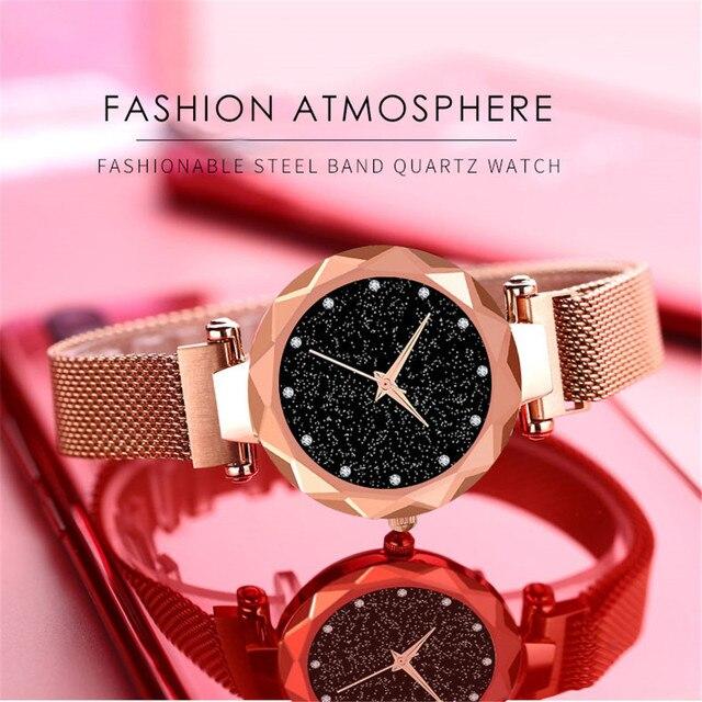 Sanwony Fashion Woman Design Stainless Steel Mesh belt Analog Alloy Quartz Wrist