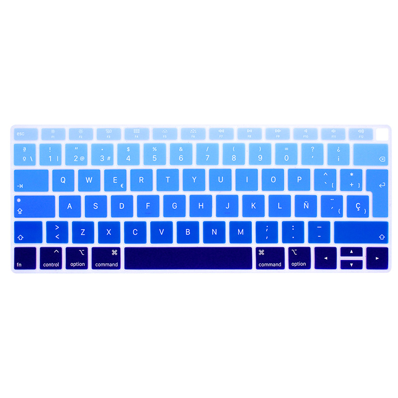 EU Enter Spanish Or Chile Keyboard Case Protector for MacBook Air 13 Keyboard Cover Spanish Model A1932 Silicone Protective Film-Gold