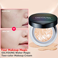2017 New Luxury Face Powder Foundation Water Magic Concealer Two Color Base Makeup Cream Translucent Powder Makeup Flawless Skin