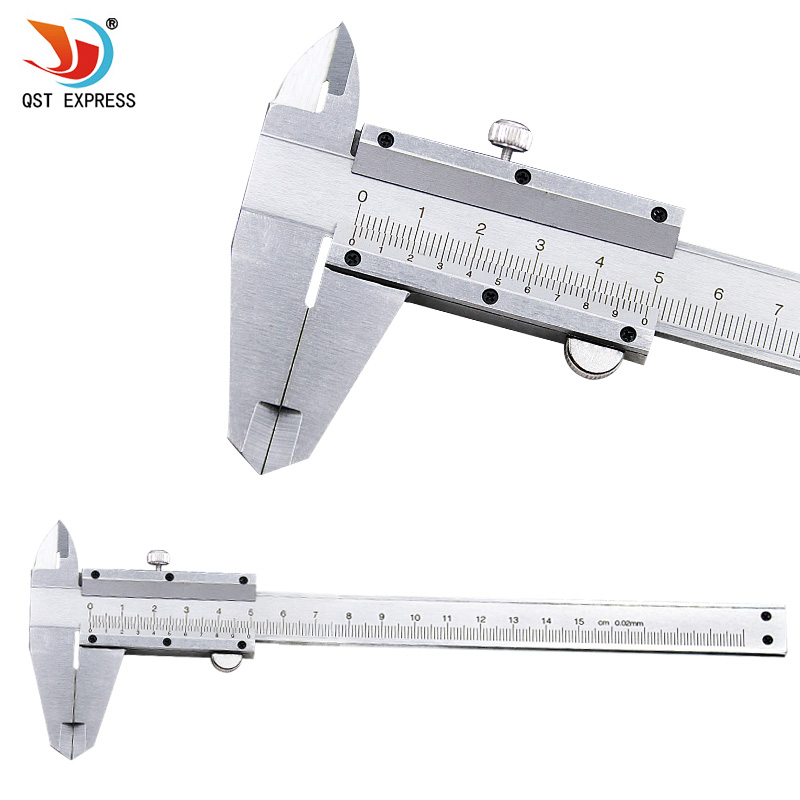 QSTEXPRESS Vernier Caliper 6 0-150mm 0.02mm Metal Calipers Gauge Micrometer Measuring Tools QSTEXPRESS Vernier Caliper 6 0-150mm 0.02mm Metal Calipers Gauge Micrometer Measuring Tools
