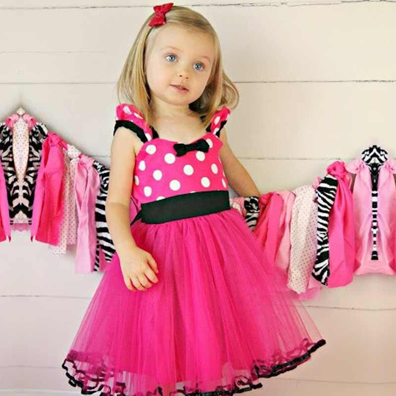 Baby Polka Dot Tutu Party Birthday Gift Girl Kids Dresses Clothing Outfit
