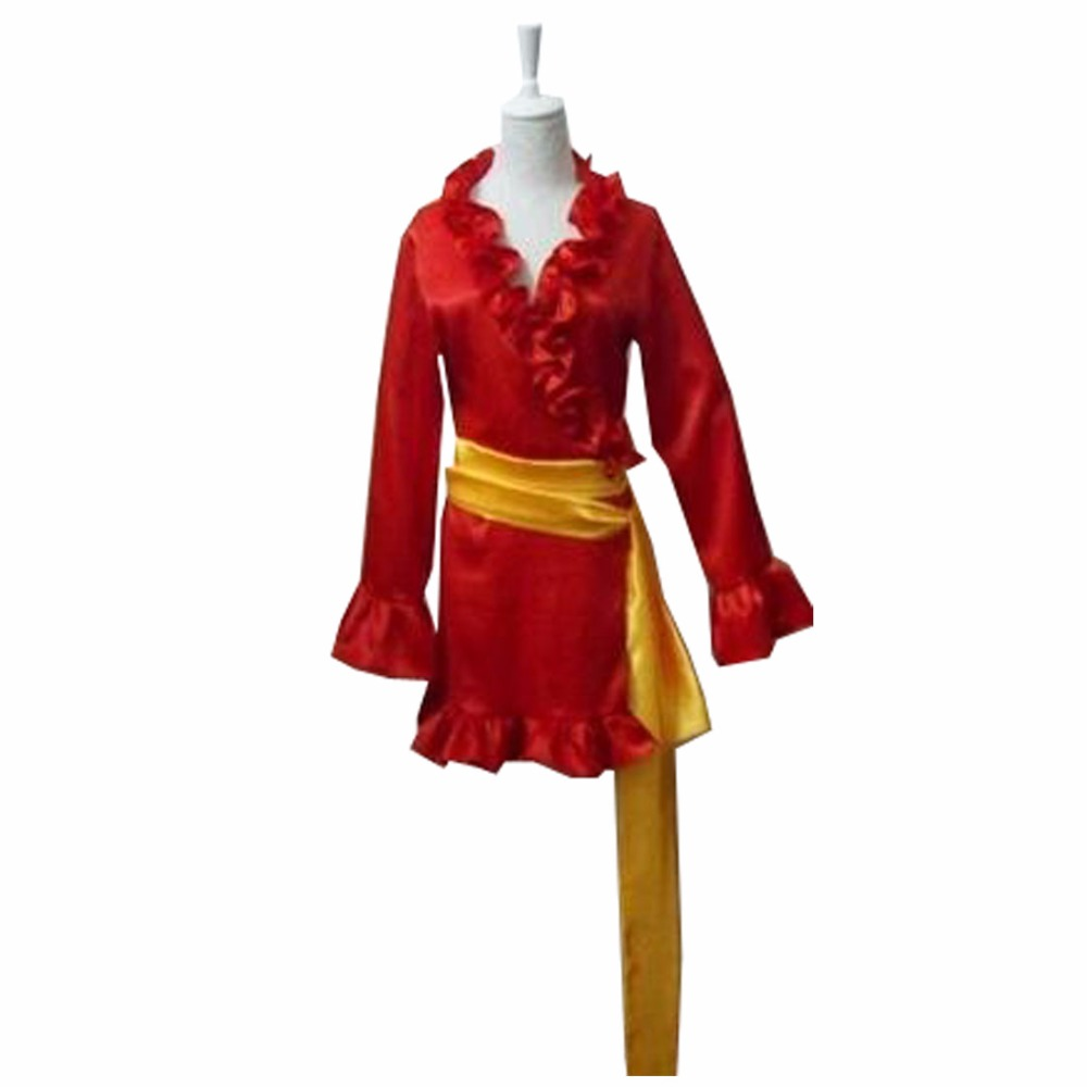 One Piece Pirate Empress Boa Hancock Snake Princess Red Dress Outfit Anime Cosplay Costume A018