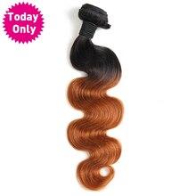 TODAY ONLY Brazilian Body Wave Bundles Ombre Human Hair Weave Bundles Two Tone 1b 30
