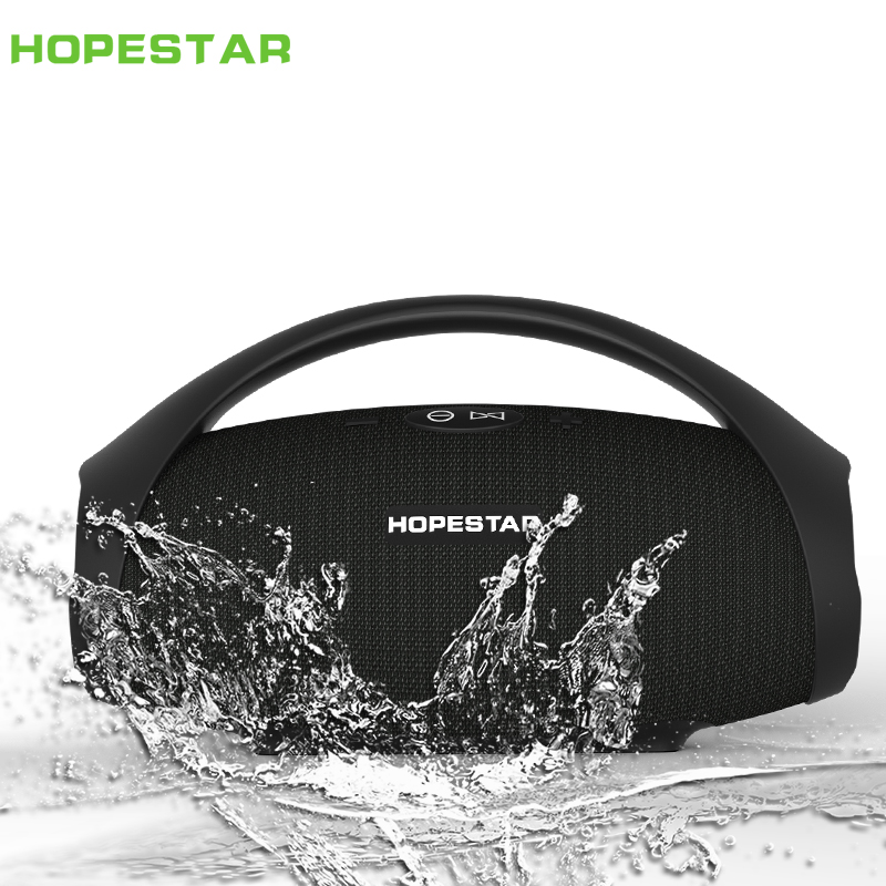 HOPESTAR-H32 Portable bluetooth speaker wireless outdoor waterproof IPX6 mini speakers big power 10W Column boombox music FM TF jordans shoes all black