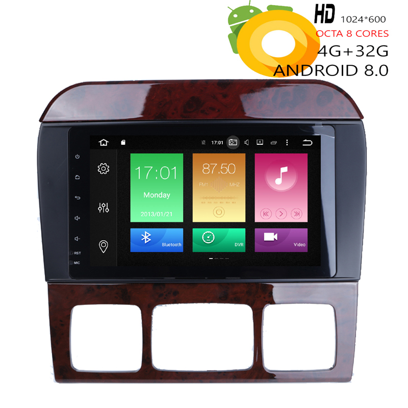 HIRIOT 8'' Android 8.0 <font><b>GPS</b></font> Navigation Car DVD Player <font><b>For</b></font> <font><b>Mercedes</b></font> Benz S-Class W220 S400/S430/S500 4G+32G Radio WIFI DAB+MAP DVR image