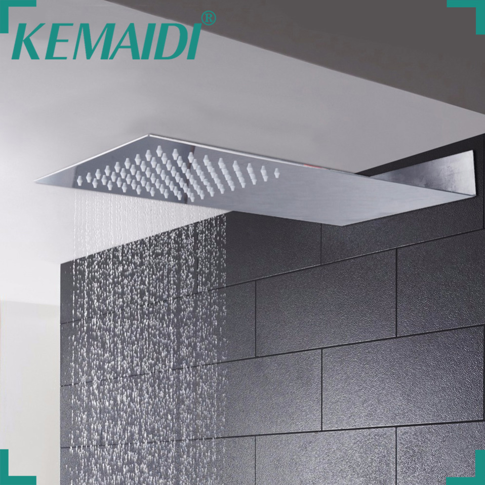 KEMAIDI  New Arrival  Bathroom Stainless Steel Rain Shower Head Mixer Bathroom Shower Rectangle Style Without Shower Hand
