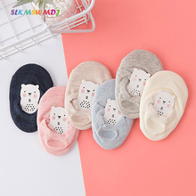 SLKMSWMDJ summer childrens socks mesh thin cotton solid color anti-skid dispensing baby boy girl for 1-10 years old