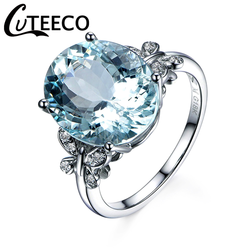 CUTEECO Engagement Ring Jewelry Butterfly-Ring Bague Crystals Silver-Color Women Wedding