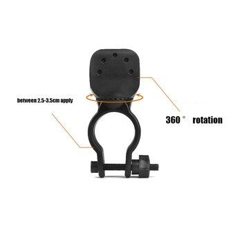 Accesorios de Bicicleta Z50 360, Clip giratorio para Bicicleta, Luces de luz Led para Bicicleta, soporte de montaje para linterna LED, Clip para linterna|Soportes de montaje de linterna| |  -