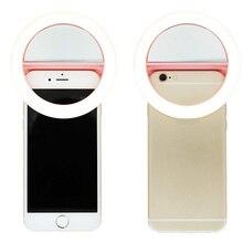 3 Цвета клип на мобильный телефон селфи кольцо свет лампы 36leds заполнить свет 3 режима для iPhone 7 6 S 6 Plus Samsung смартфонов