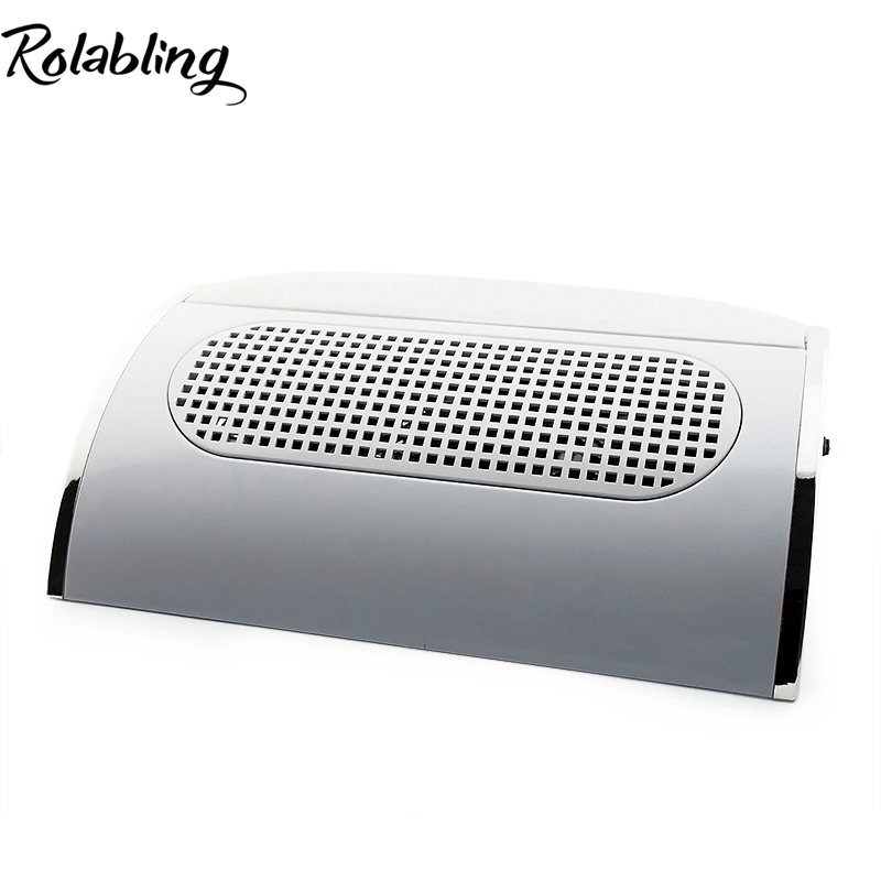 Rolabling 110V 220V Nail Dryer Machine Nail Dust Suction Collector Manicure Filing Acrylic UV Gel Tip