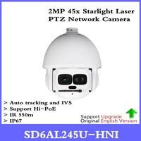 DH Original english auto tracking PTZ IP Camera SD6AL245U HNI 2Mp HD 45x Laser PTZ Dome Camera With Hi POE SD6AL245U HNI