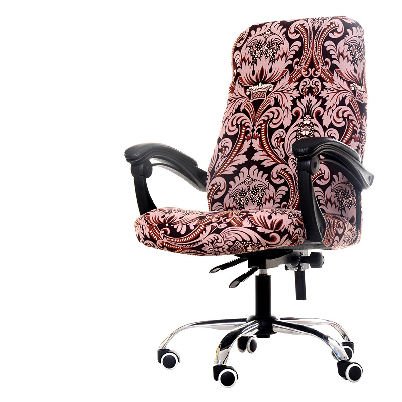Flower Printing Chair Cover Washable Elasticity Office