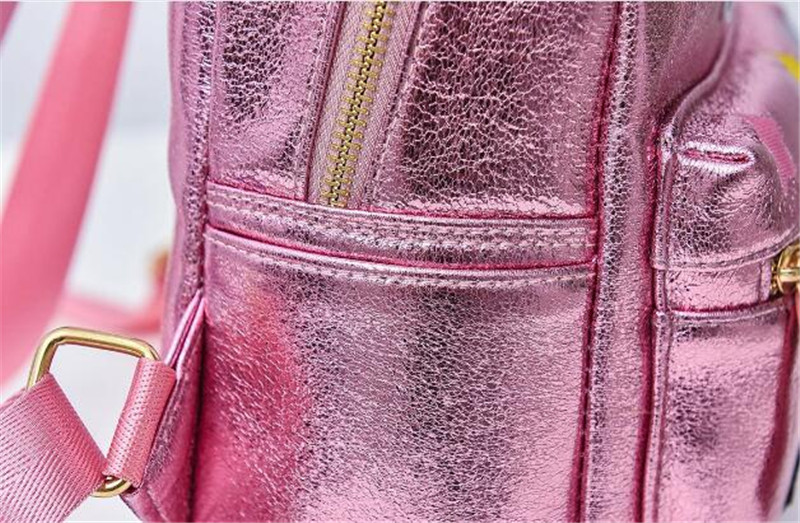 Meloke 2019 leather mini travel backpacks sequins unicorn backpacks fashion Multi functional bags drop shipping XC17 in Backpacks from Luggage Bags