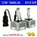 D1 D3 S/R Светодиодные Фары Conversion Kit 6000 К 72 Вт 7600Lm Заменить оригинал D1R D1S D3S D3R Ксеноновые Лампы Головного Света 12 В 24 В